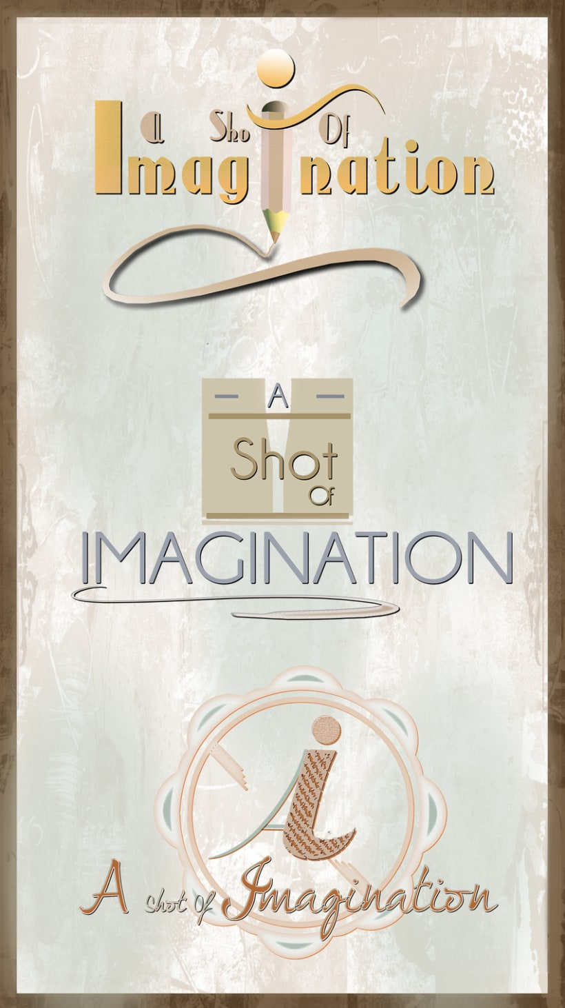 A Shot Of Imagination - Logo Designs -1