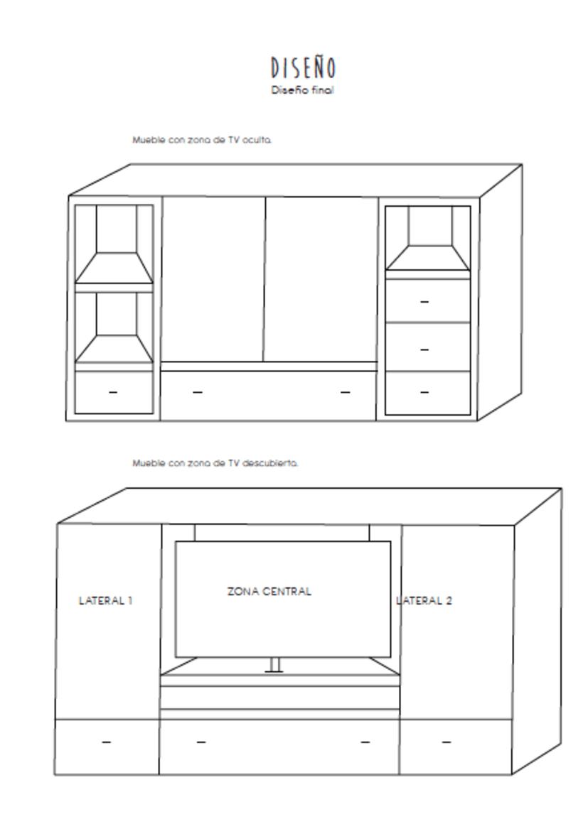 Diseño de un mueble para TV - concepto 2