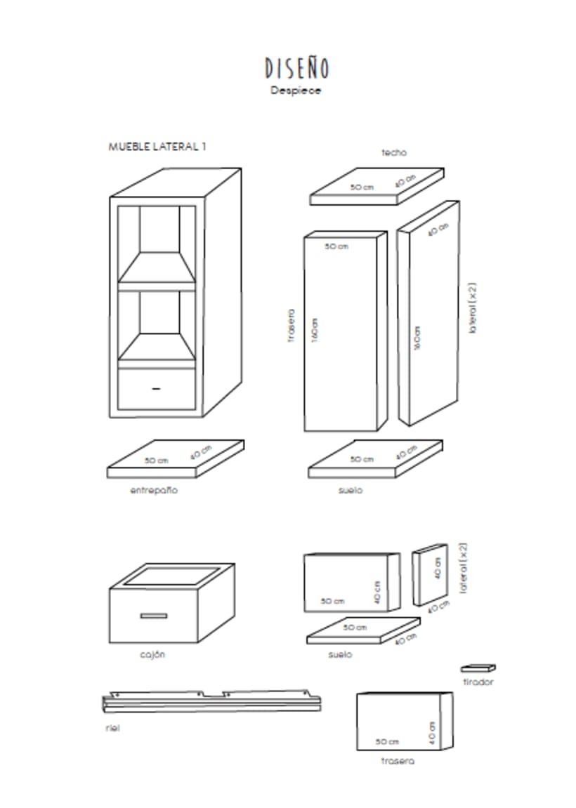Diseño de un mueble para TV - concepto 3