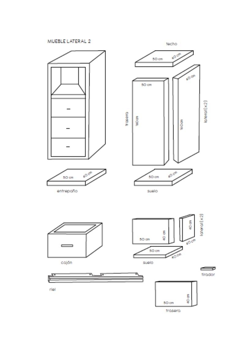 Diseño de un mueble para TV - concepto 4