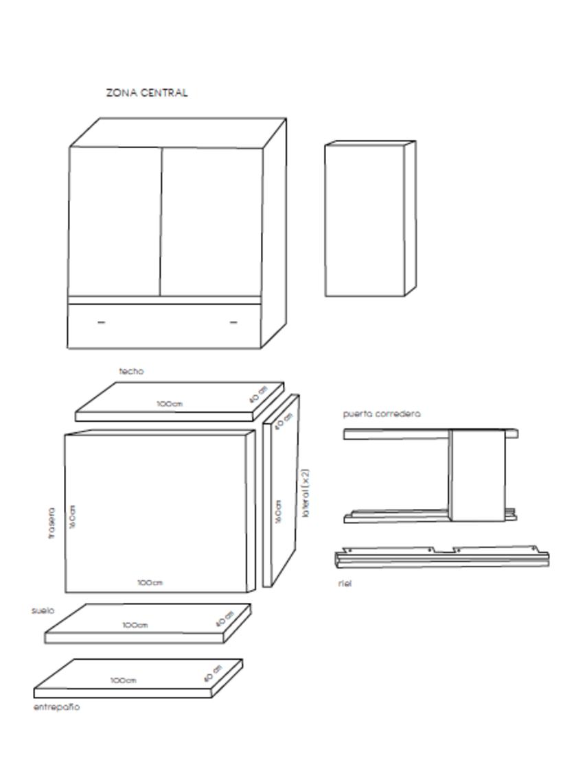 Diseño de un mueble para TV - concepto 5
