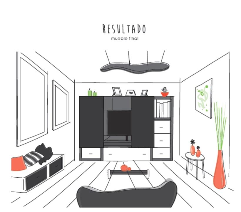 Diseño de un mueble para TV - concepto 7
