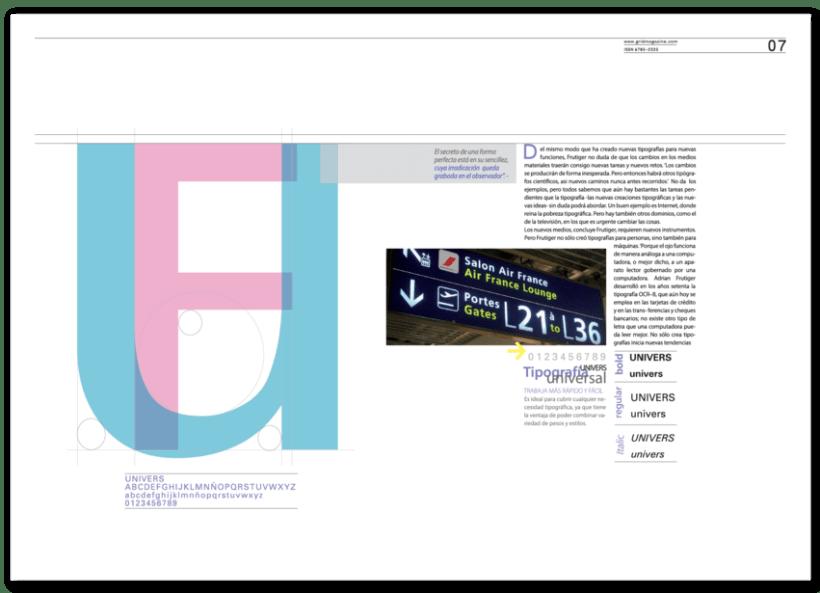 Revista Tipográfica Grid 6