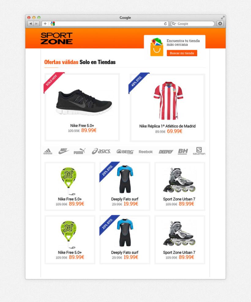 Landing Page para captación de clientes de Sportzone 2