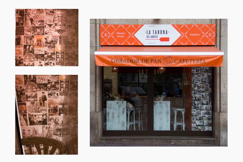 La Tahona del abuelo, horno tradicional y cafetería. Señalética, murales, vinilos. Valencia / 2013-2014 4
