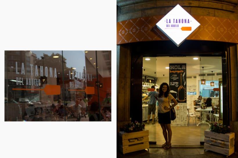 La Tahona del abuelo, horno tradicional y cafetería. Señalética, murales, vinilos. Valencia / 2013-2014 5