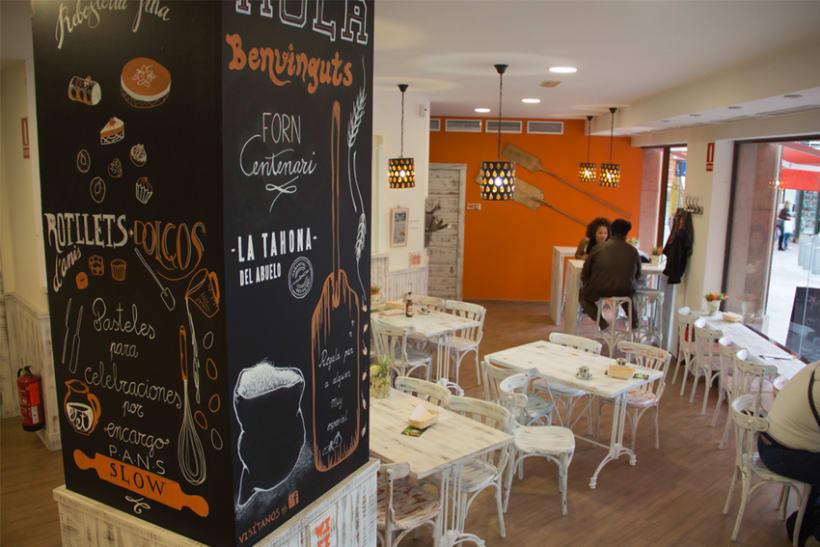 La Tahona del abuelo, horno tradicional y cafetería. Pizarras, lettering. Valencia / 2013-2014 7