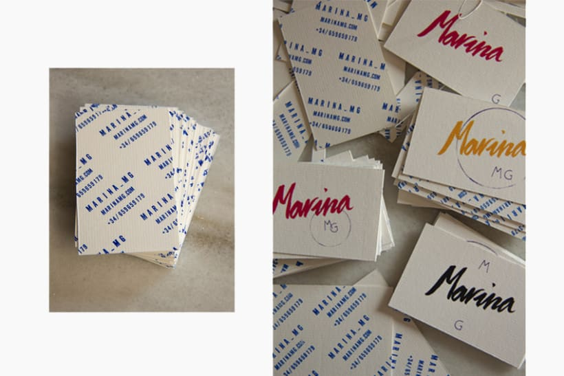 Marina mg tarjetas. 0