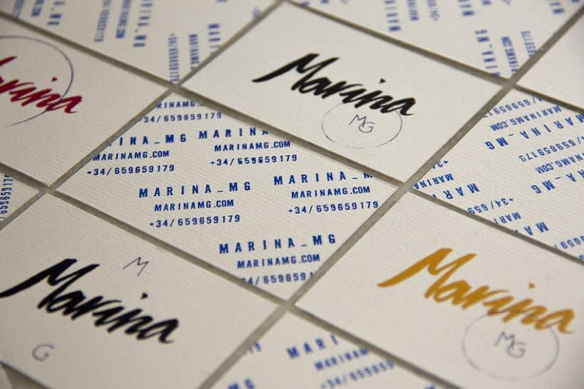 Marina mg tarjetas. 1