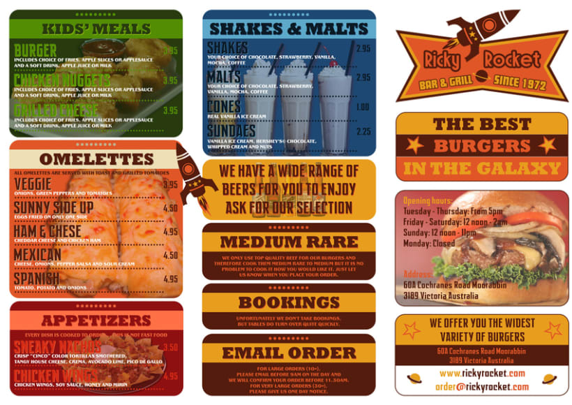 menu para burguer restaurant 0