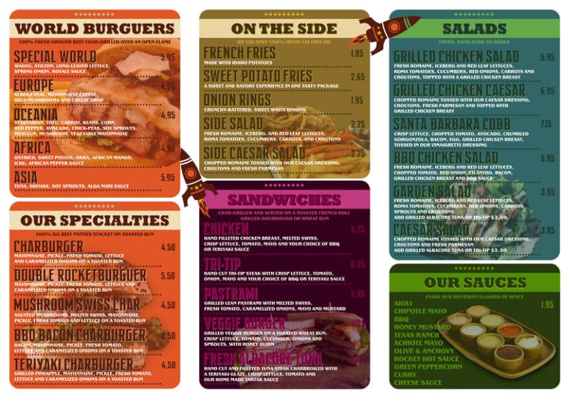menu para burguer restaurant 1