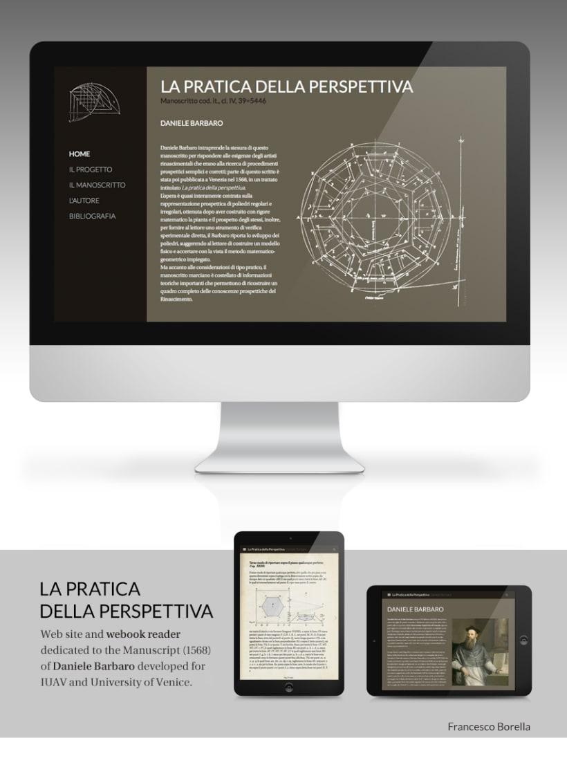 Web site of the Manuscrito of Daniele Barbaro (1568) 0