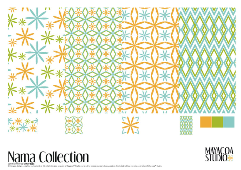 Nama Collection , Estampado textil y de superficie 1