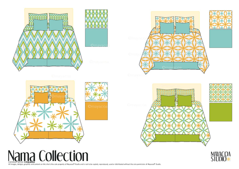 Nama Collection , Estampado textil y de superficie 2