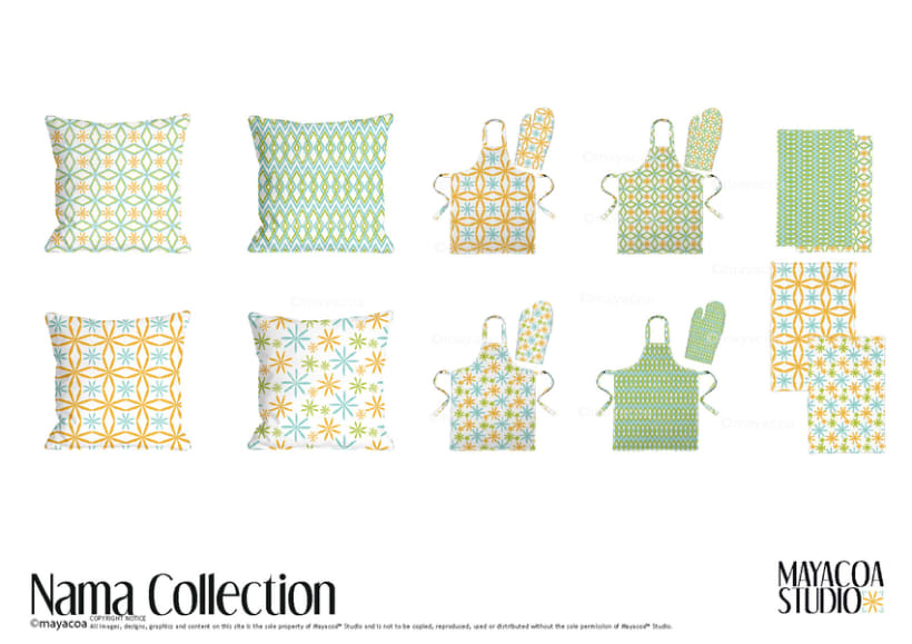 Nama Collection , Estampado textil y de superficie 3