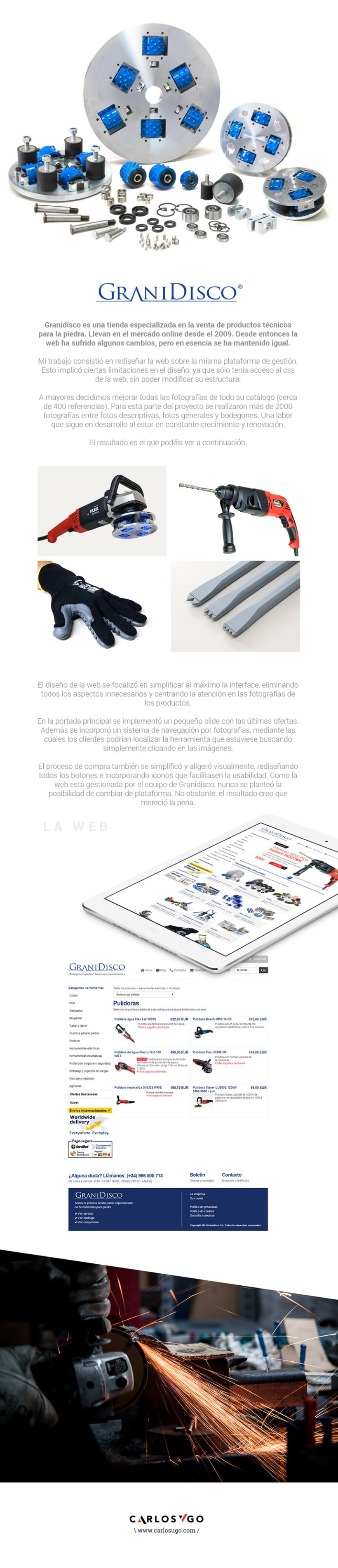 Diseño Web + Fotografía Granidisco.com -1