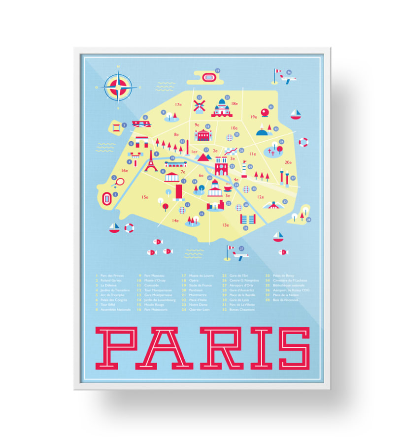 Map of Paris 1