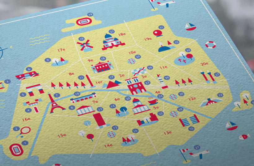 Map of Paris 3