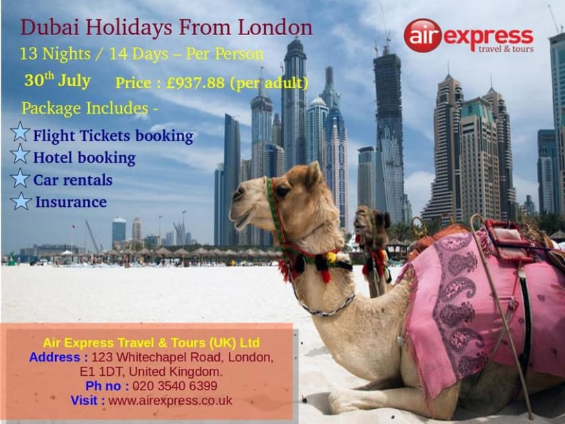 Exclusive tour packages to Dubai  -1