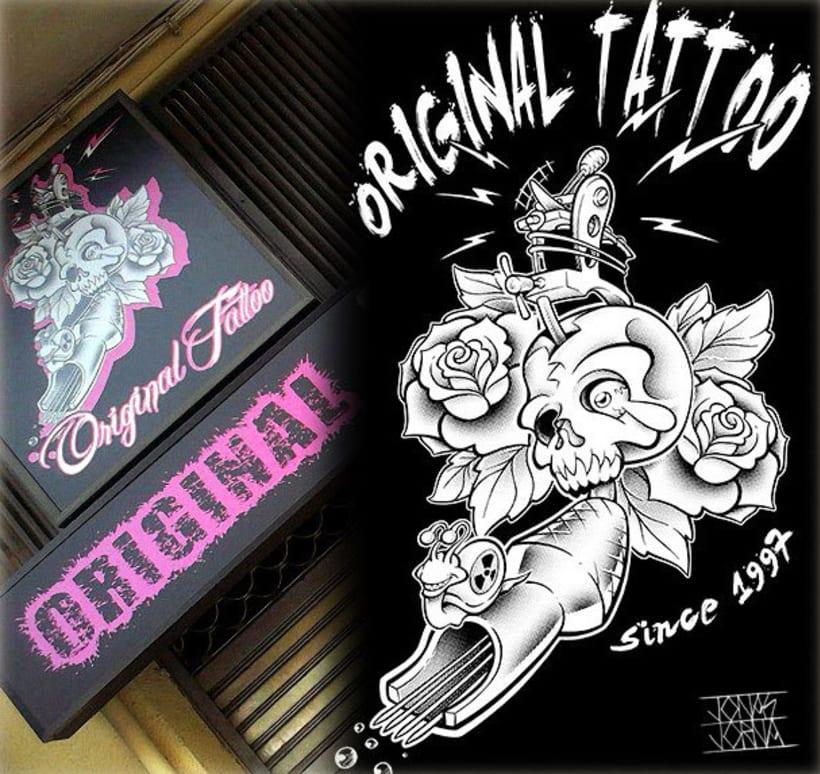 Ilustración rótulo estudio de tatuajes -1