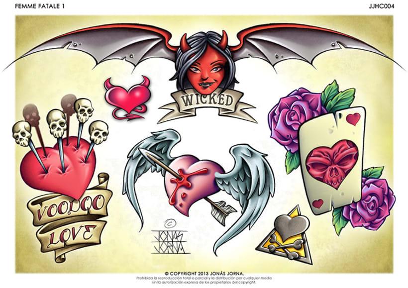 Diseños para láminas de tatuajes (Flash sheets) -1