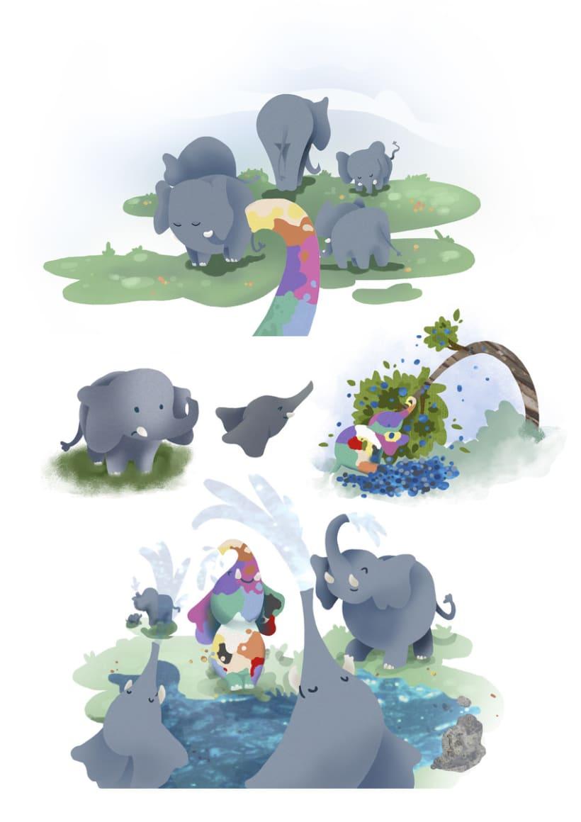 Elmer el Elefante de colores 2