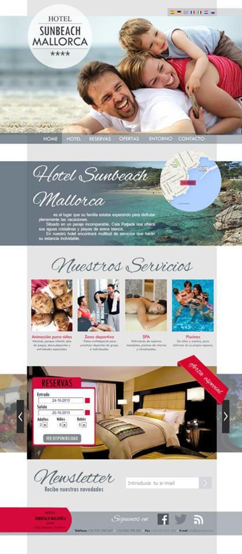 Página web - SunBeach Mallorca 0