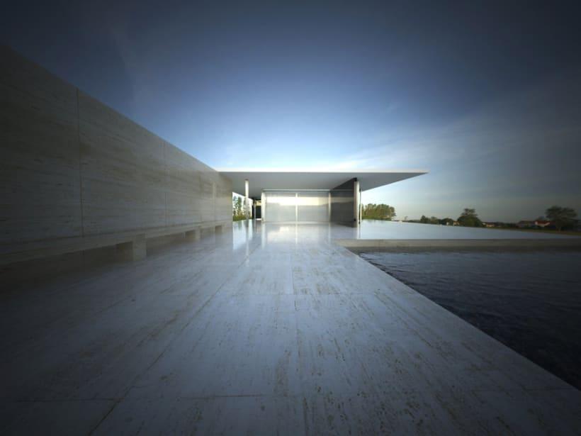 3D RENDER | Pabellón de Van Der Rohe 0