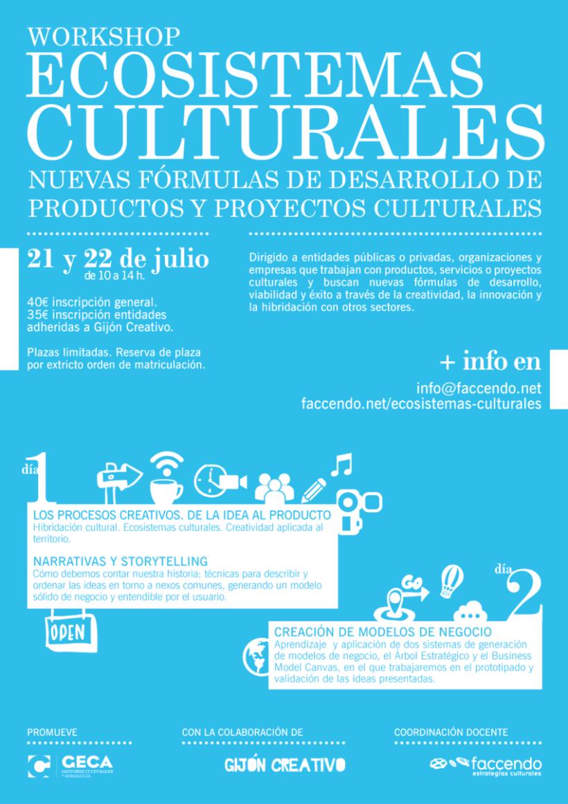Diseño Cartelería Workshop Ecosistemas Culturales. -1