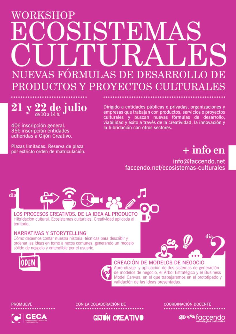 Diseño Cartelería Workshop Ecosistemas Culturales. 0