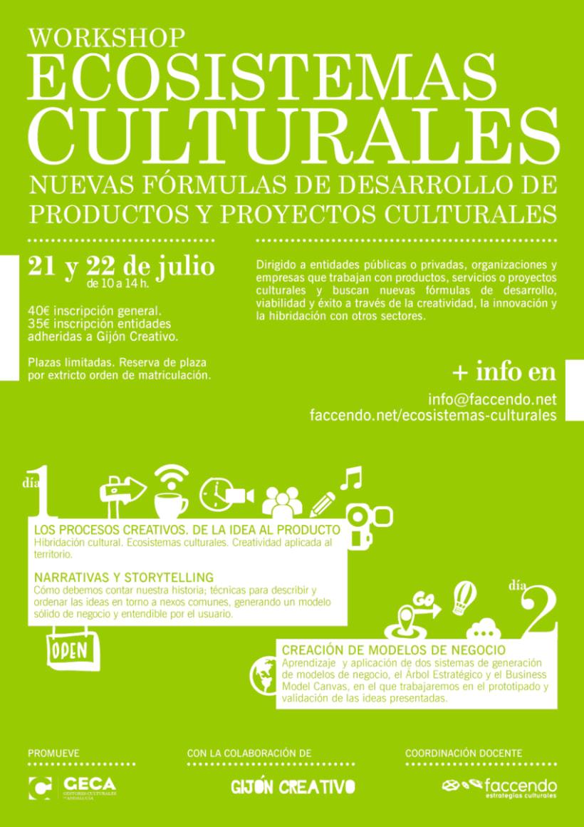 Diseño Cartelería Workshop Ecosistemas Culturales. 1