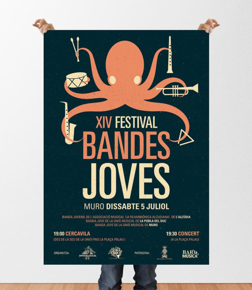 Cartell Festival Bandes Joves - Muro 2014 1