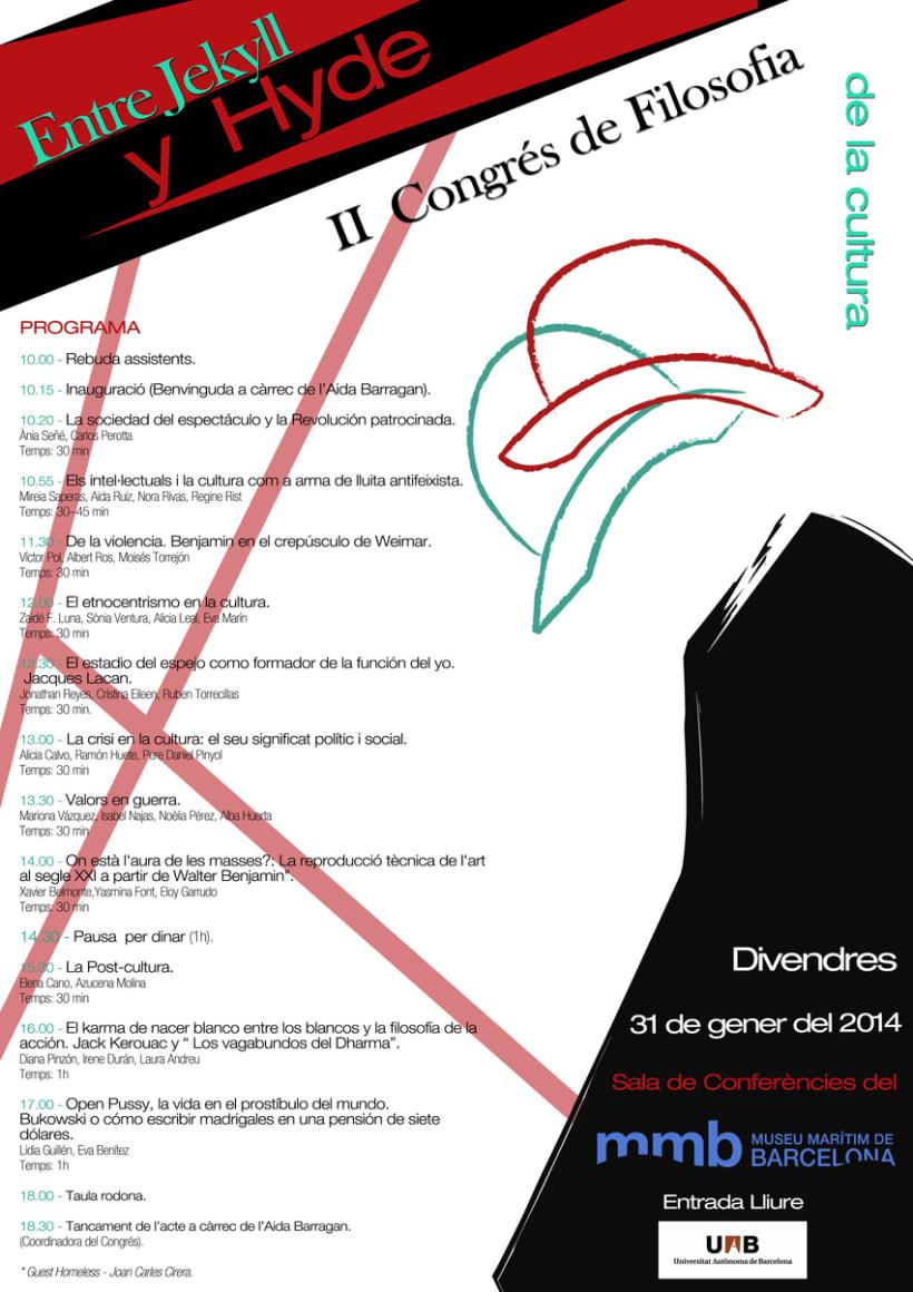 Cartel II Congreso Filosofía de la Cultura -1