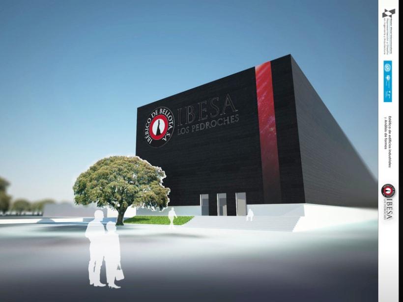 3D RENDER | Propuesta de nueva fachada para IBESA 5