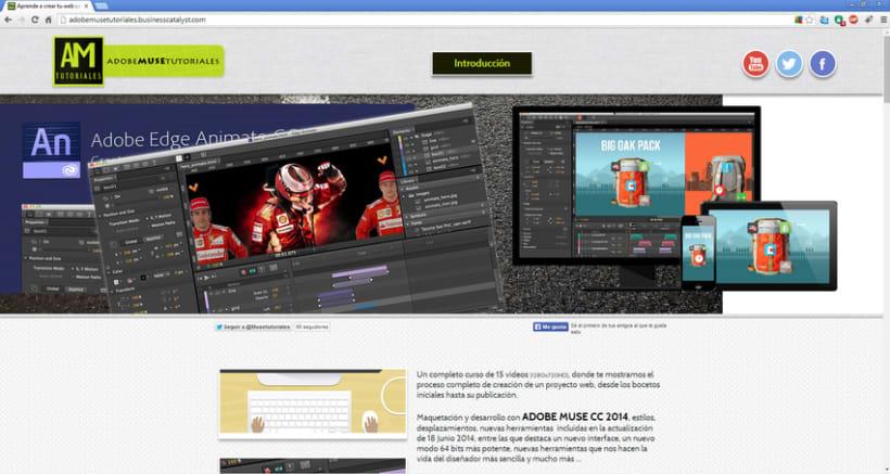 Videotutoriales Adobe MUSE/Adobe Edge Animate CC 2014 y más ... 0