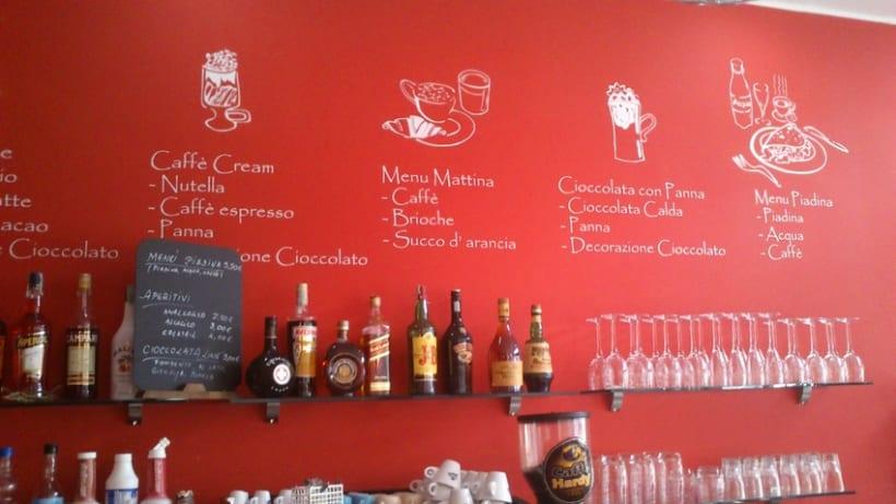 Ilustraciones personajes bar heladería Milán Italia 3