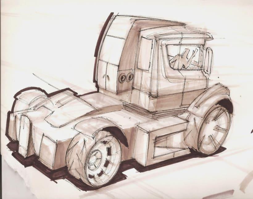 Boceto Rápido Camión - Concepto -1