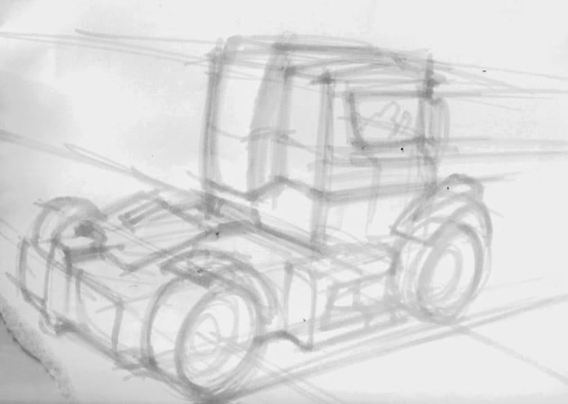 Boceto Rápido Camión - Concepto 0