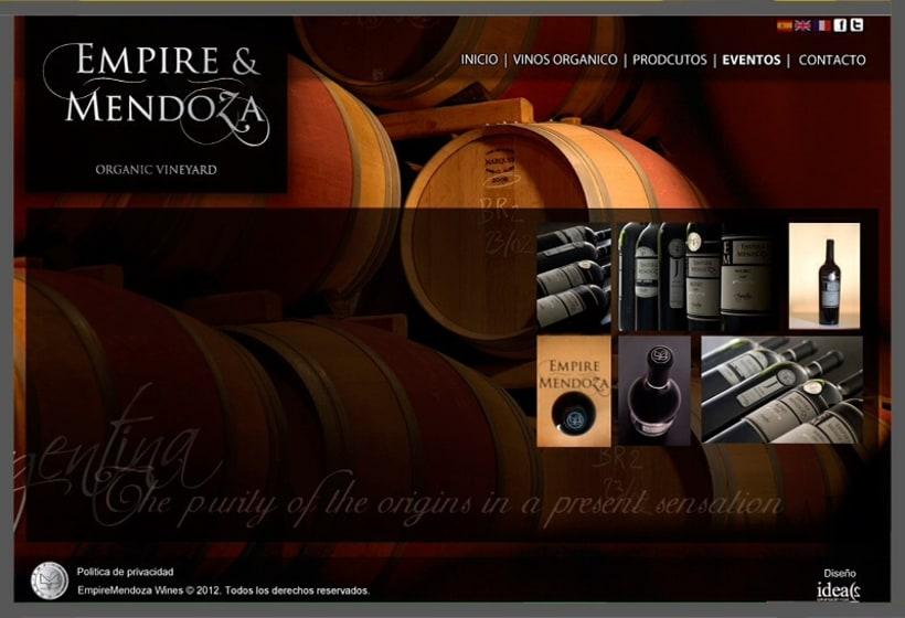 diseño web de vino y champagne orgánico de Argentina 0