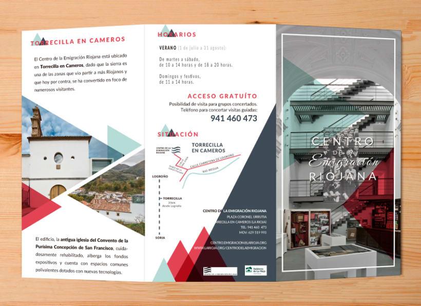Tríptico Centro de la Emigración Riojana 0
