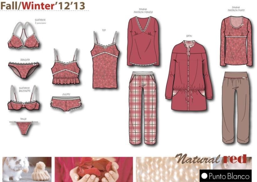 Underwear-sleepwear design - Natural Red -1