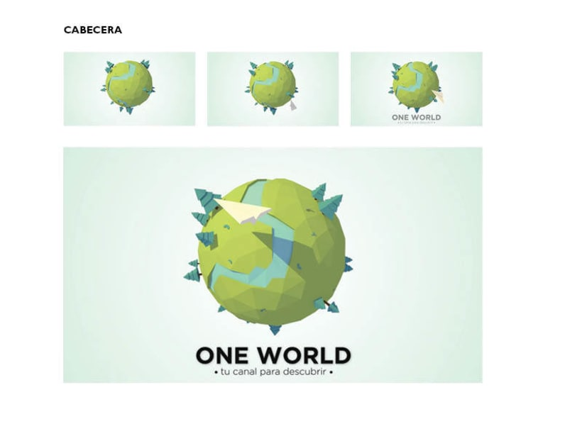 Modelado 3D: One World Channel TV 2
