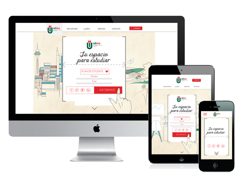 Diseño web: Udima 0