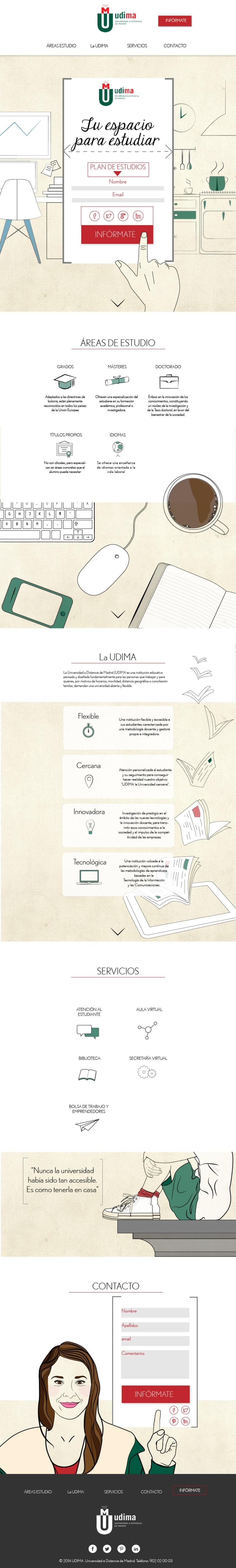 Diseño web: Udima 2