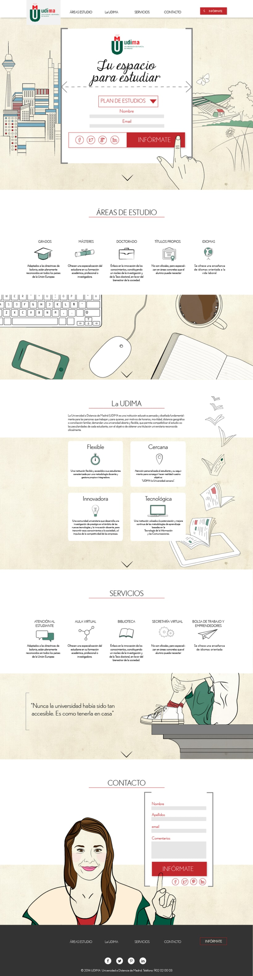 Diseño web: Udima 1
