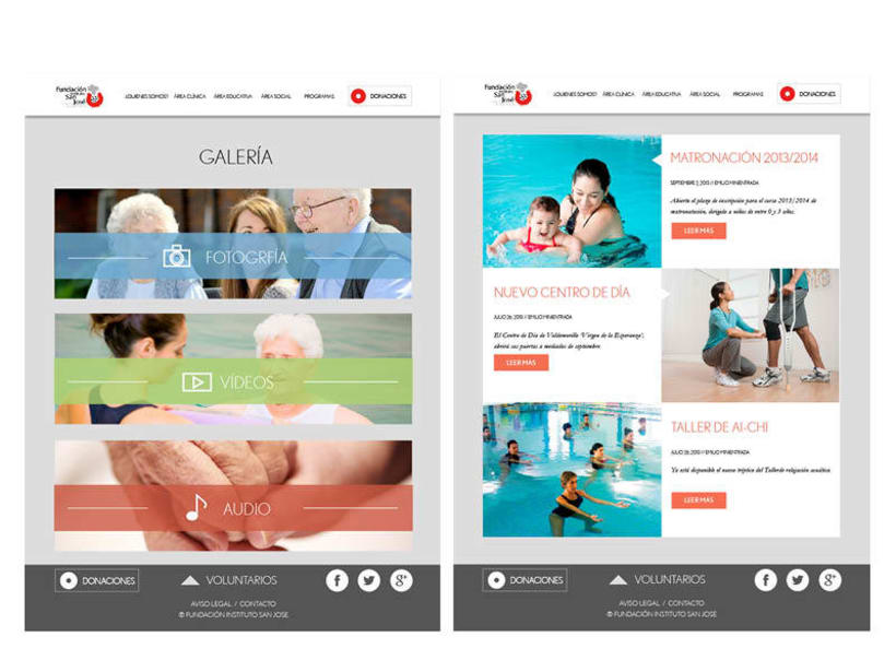 Diseño web: Fundación Instituto San José 0