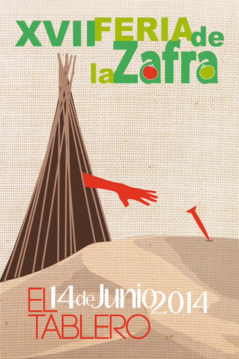Poster to promote the Zafra XVII edition in Tablero de Maspalomas 0