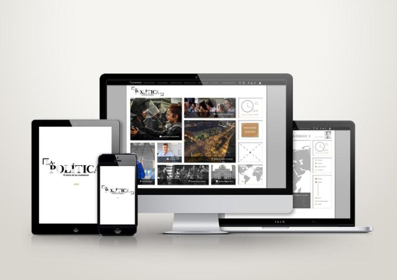 Diseño web: La politica.es -1