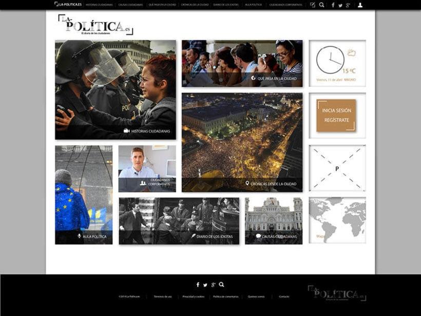 Diseño web: La politica.es 0