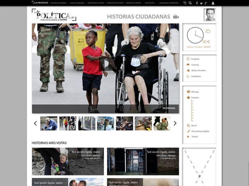 Diseño web: La politica.es 1